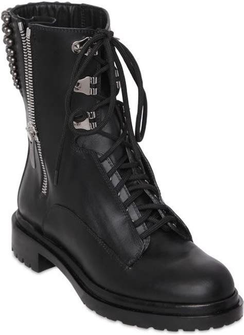 rockstar boots for sergio 30mm rockstar leather combat boots in black