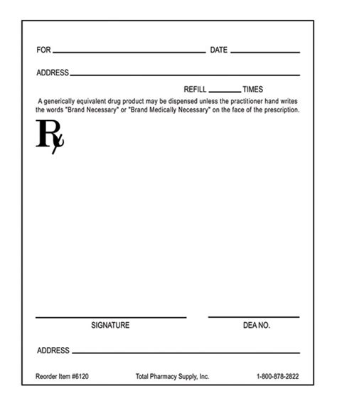 prescription template blank rx template pictures to pin on pinsdaddy
