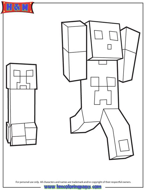 a creeper colouring pages