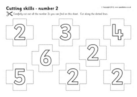 printable number games for early years cutting skills activities teaching resources for early