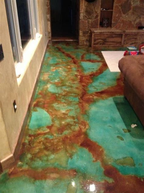 acid stain concrete floors sted patios flooring stenciled and stained concrete floors gorgeous stenciled