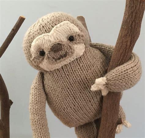 knitted sloth amigurumi knit sloth pattern digital