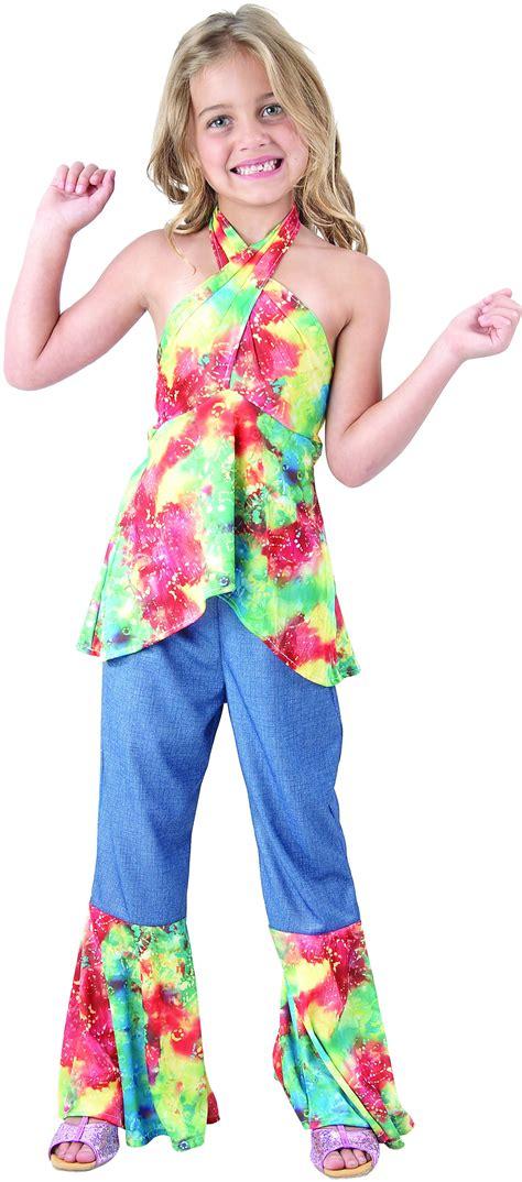 vestito figli dei fiori travestimento da figlia dei fiori anni 60 per bimba