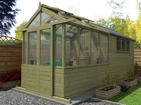 Shed With Greenhouse by Our New Greenhouse Shed Combo Range Dunster House