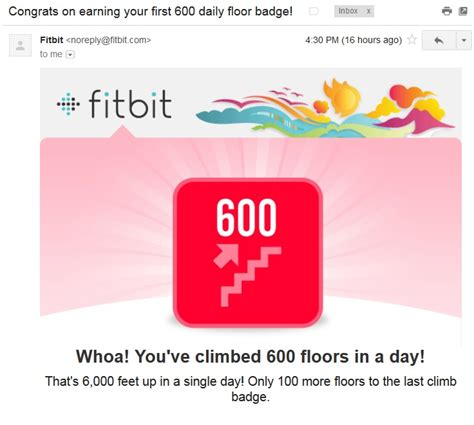 Fitbit Floors by 600 Floors Climb Fitbit Badge That S Where Mount Rinjani