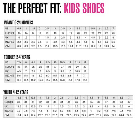 shoes size chart uk the 25 best shoe size chart ideas on baby