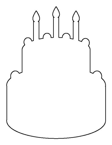 birthday cake pattern use the printable outline for