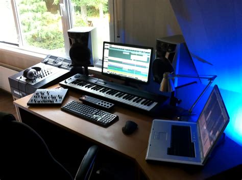 Bedroom Studio Desk And Small Recording Ideas With Small Recording Studio Desk