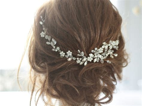 Wedding Hair Accessories Halo by Bridal Headpiece Bridal Hair Cristal And