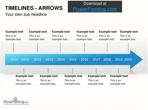 Powerpoint Timelines Timeline Template In Powerpoint 2010