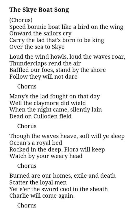 boat song the skye boat song is the basis for the outlander theme