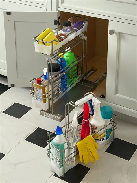 Cleaning Supplies Cabinet by Cleaning Supply Cabinet Wood Mode Custom Cabinetry