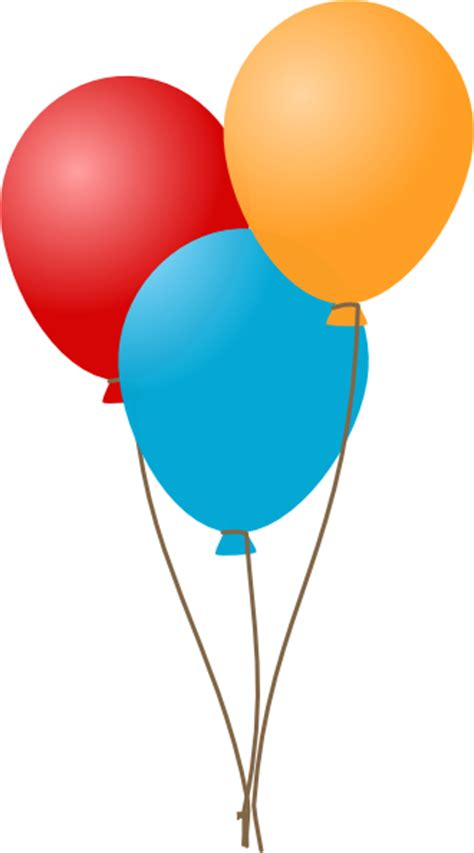 clipart ballo three balloons clip at clker vector clip
