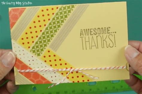 Easy Handmade Thank You Cards - how to make a handmade thank you card with washi