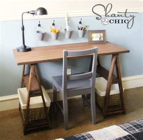 Diy Trestle Desk Image Result For Http Howtonestforless Wp Content Uploads 2012 06 Craft Room Diy
