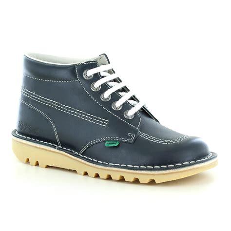 kickers classic casual kickers kick hi classic 5 eyelet unisex boots navy