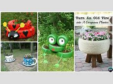 DIY Recycled Tire Planter Ideas for Your Garden Tire Stack