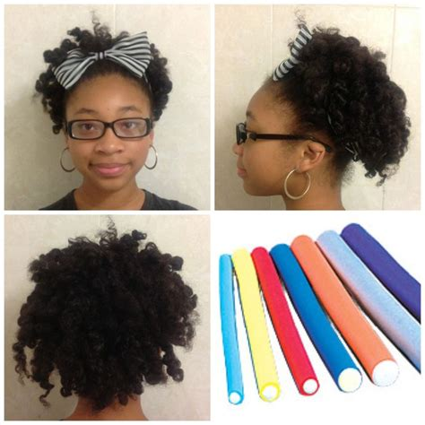 how to salvage flexi rod hairstyles natural hair style flexi rod w a headband natural hair