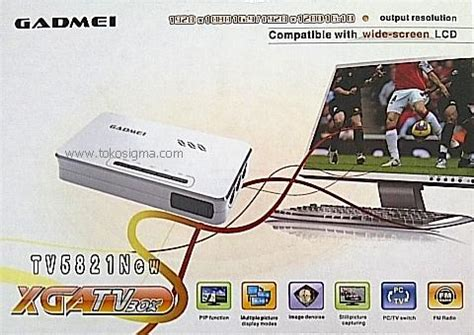 Tv Tuner Gadmei Xga Tv Box gadmei xga tv box tv5821new rca to vga converter toko