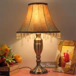 bank lamp vintage green cover table lamp bedroom bedside