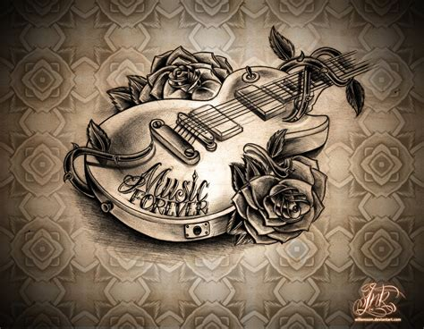 forever art tattoo 1000 images about tattoos on guitar