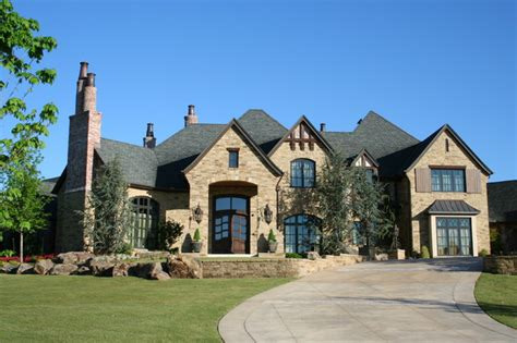 tudor estate traditional exterior oklahoma