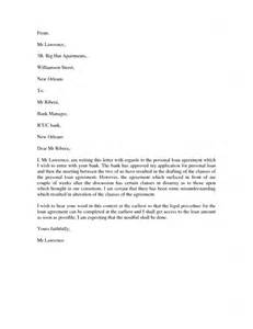Business Loan Agreement Letter sample letter to bank for personal loan settlement cover letter