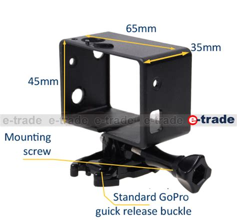 Gopro Frame Bacpac For Hero3 standard mount frame for gopro 3 3 hero3 hero3