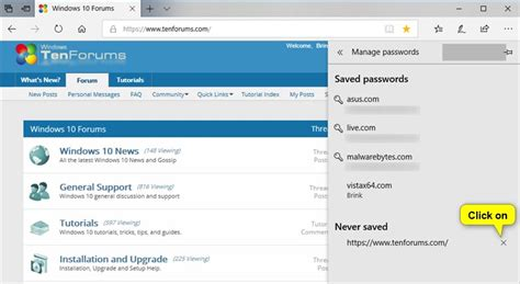 windows 10 microsoft edge tutorial manage saved passwords in microsoft edge in windows 10