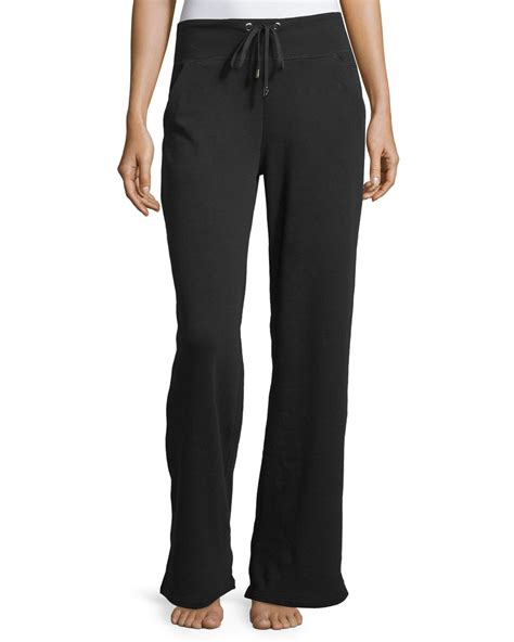 Wide Leg Sweatpants yummie by thomson wide leg sweatpants in black lyst