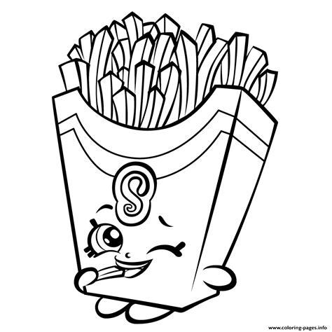 fiona fries season  shopkins season  coloring pages printable