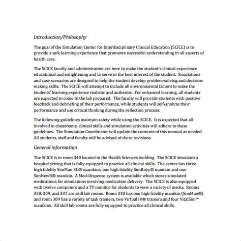 7 Procedure Manual Sles Exles Templates Sle Templates Insurance Agency Procedure Manual Template