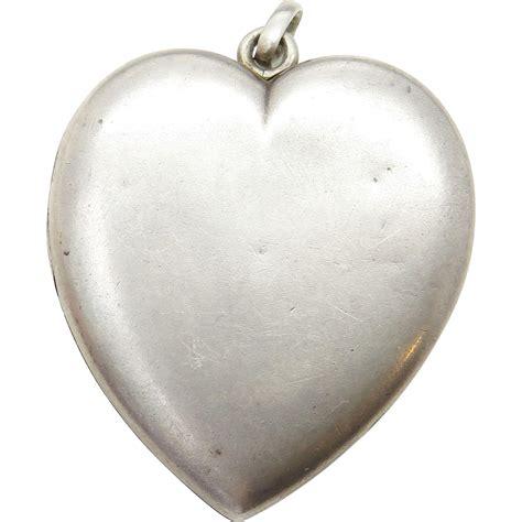 large sterling silver large sterling silver antique locket
