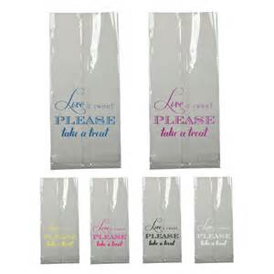 Cellophane Favor Bags For Weddings by Bar Bag Wedding Favor Is Sweet Clear Large