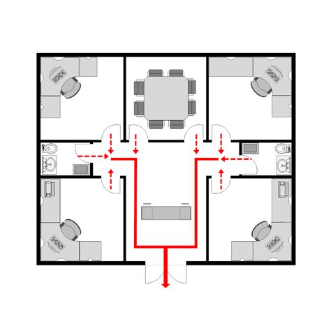 evacuation plan template for office office evacuation plan 3