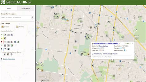 geocaching map geocaching in melbourne melbourne