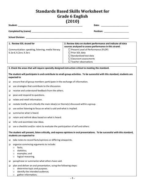 printable worksheets grade 6 17 best images of english grammar worksheets grade 6