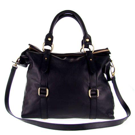 Barbar A2 Bags Bambalina Barbar Black studiomoda italian made black leather large designer carryall tote handbag