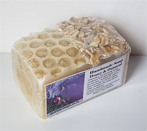 Handmade Honey Soap - honey and oatmeal handmade soap lavender magic