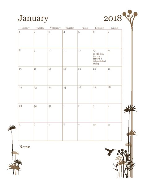 18 month calendar template 2018 12 month calendar mon sun office templates