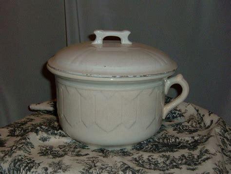 Commode Pot by Vntg Chamber Pot Commode C C Thompson Pottery Co Ebay