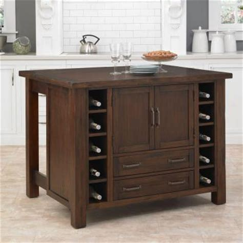 Cabin Creek Wood Drop Leaf Breakfast Bar Kitchen Island | cabin creek wood drop leaf breakfast bar kitchen island