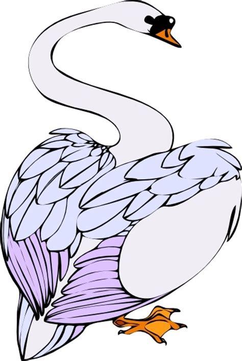 swan walking clip art  vector  open office drawing