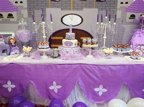 Princess Sofia Decorations by Princess Sofia Birthday Ideas Photo 1 Of 36