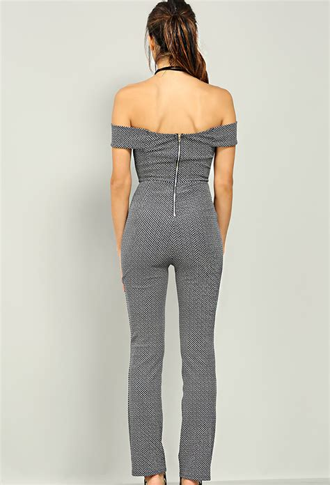 pattern jumpsuit pattern off the shoulder jumpsuit shop jumpsuit at