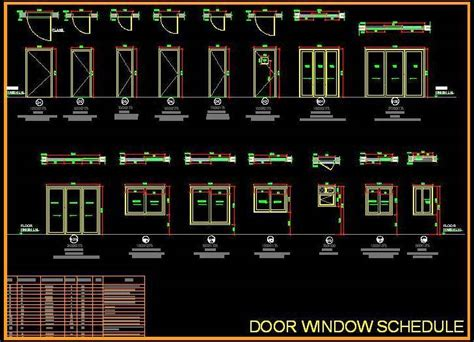Door Window Opening Schedule   Plan n Design