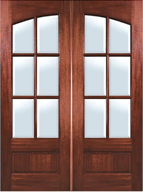 Lite Entry Door by Mahogany Arch 6 Lite Entry Door