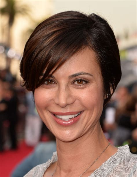Catherine Bell Hairstyles by Catherine Bell Side Parted Cut Hairstyles