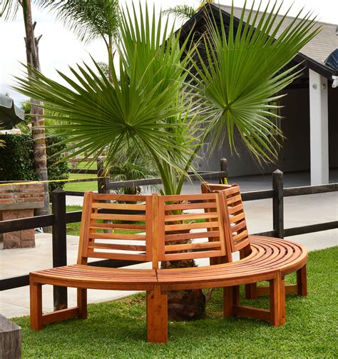 circle tree bench half circle tree bench for garden seating forever redwood