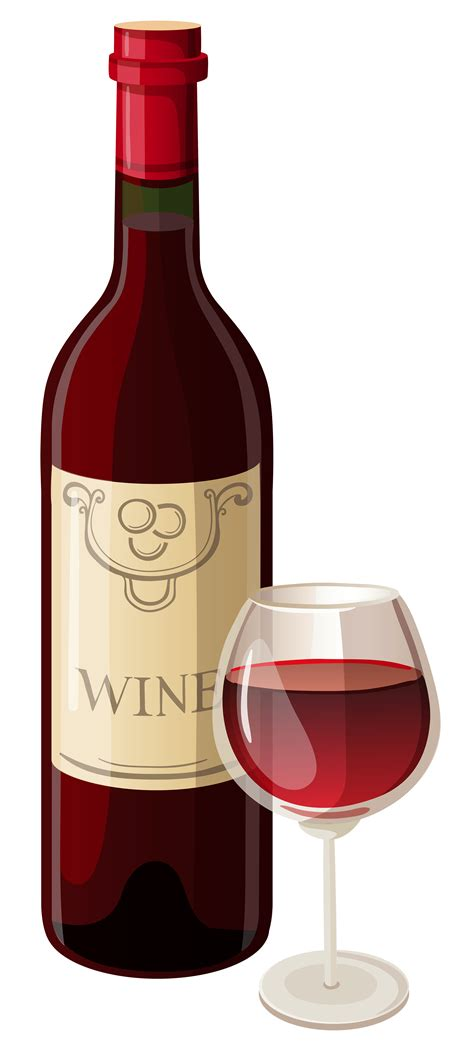 wine clipart wine bottle and glass vector clipart clipartix